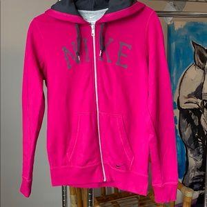 Pink Nike Zip Hoodie